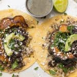acorn squash tacos on a plate