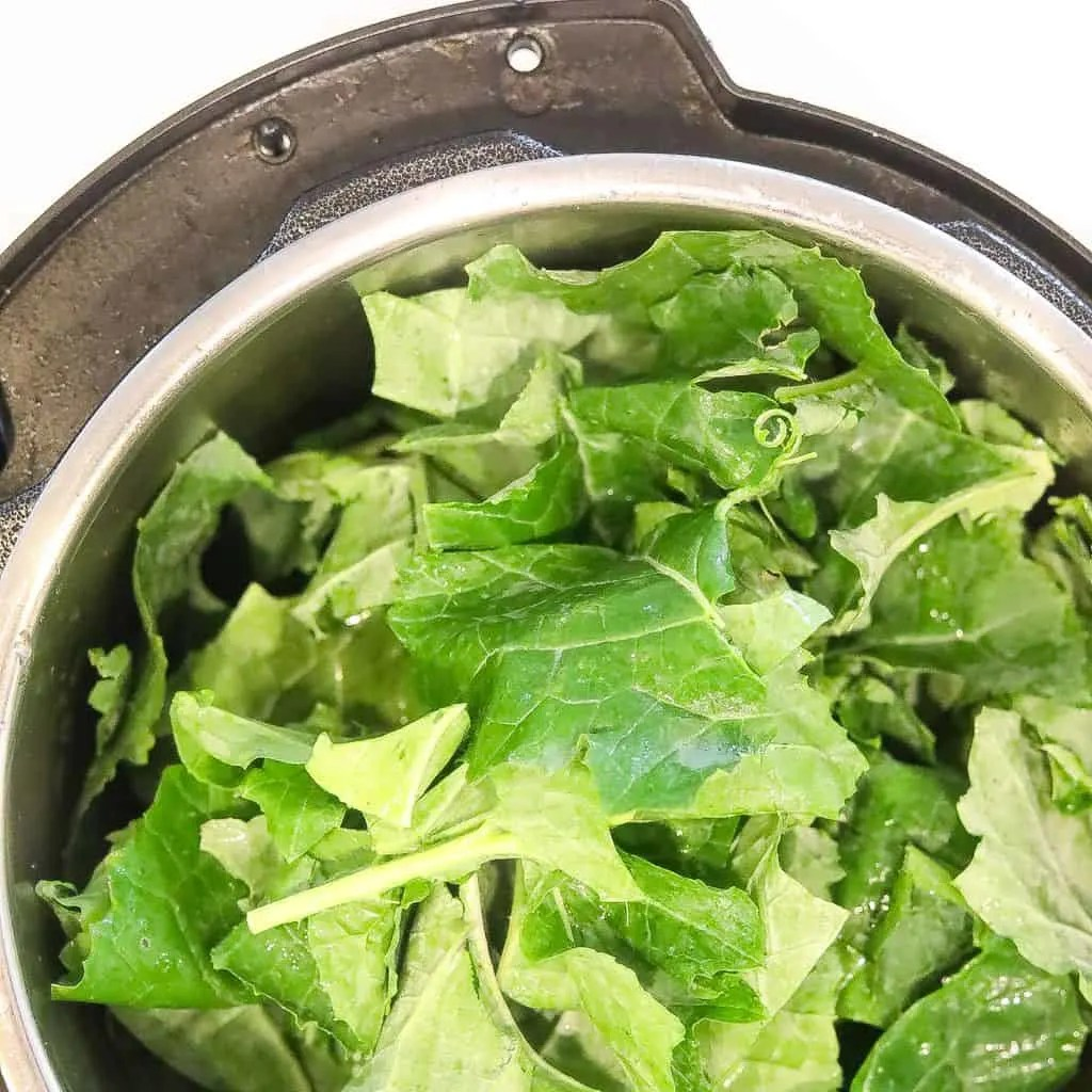 greens stuffed in instant pot