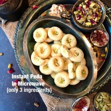 Doodh Peda in 4 minutes/Instant Microwave Peda Recipe