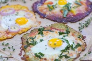 Breakfast Pizza with Gluten-Free Cauliflower Crust