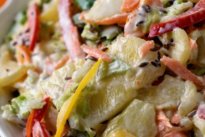 Sweet Bell Pepper Slaw with Pineapple