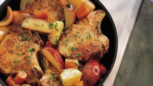 Pork Chop Skillet Dinner-foodflag