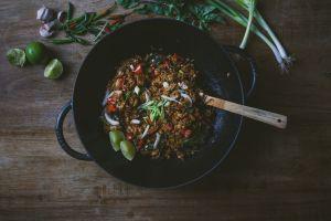 Thai Basil Fried Rice with Tofu-foodflag