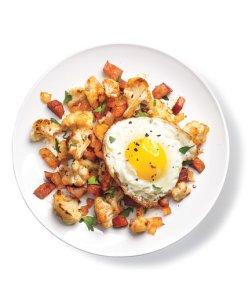 Cauliflower and Ham Hash-foodflag