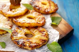 Grilled Pineapple with Spiced Caramel Sauce