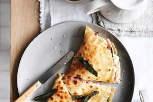 Mortadella Breakfast Sandwich