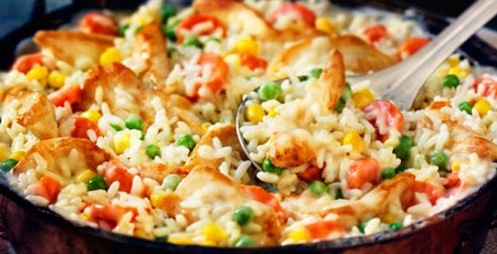 20-Minute Chicken and Rice Dinner