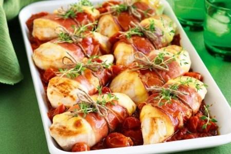 Chicken and Prosciutto Parmigiana