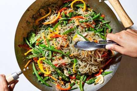 Korean Glass Noodle and Vegetable Stir-Fry