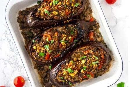 Keto Stuffed Eggplant