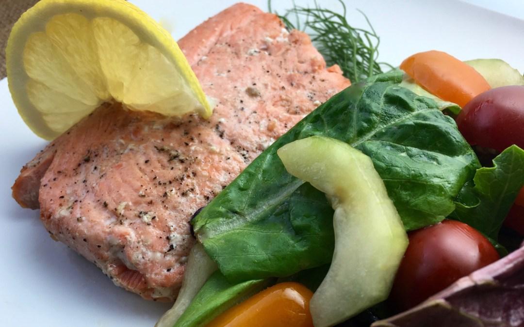Lemon and Dill Salmon with Herb Salad