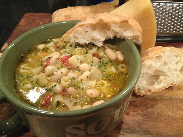 Pasta Fagioli with Fresh Pesto