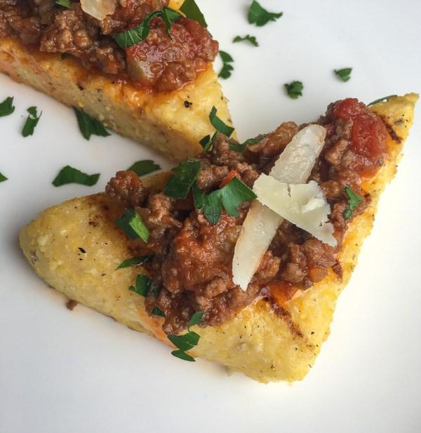 Grilled Polenta Crostini