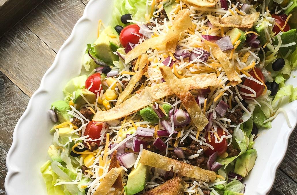 Hearty Beef Taco Salad