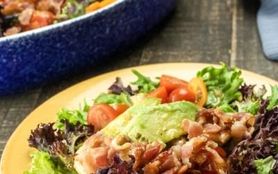 Chicken Avocado Salad with Homemade Vinaigrette