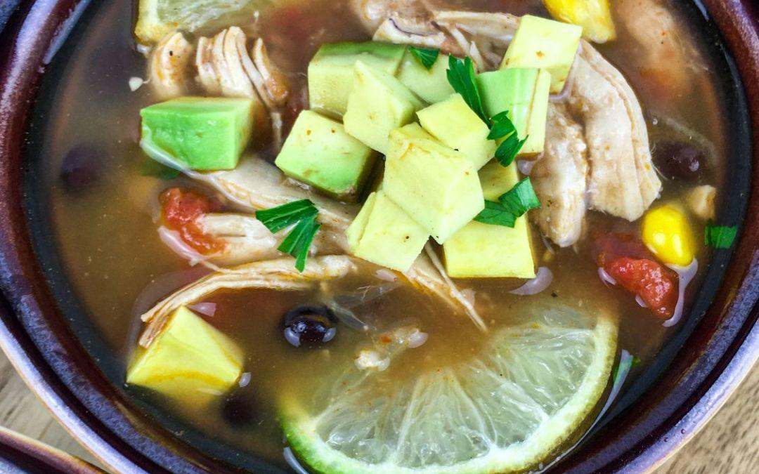 Tex – Mex Chicken & Black Bean Soup