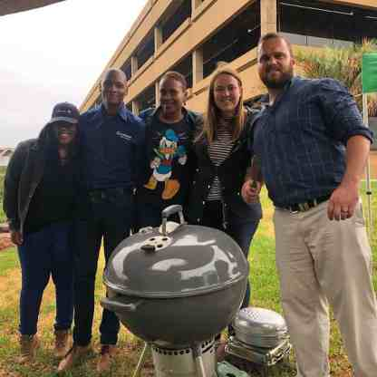 "Senwes staff at the Klerksdorp office came together in solidarity to ""Braai Vir Die Boere""."