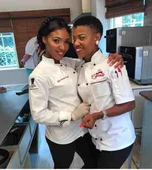 Unaty with fellow foodie and friend, chef Zanele Van Zyl