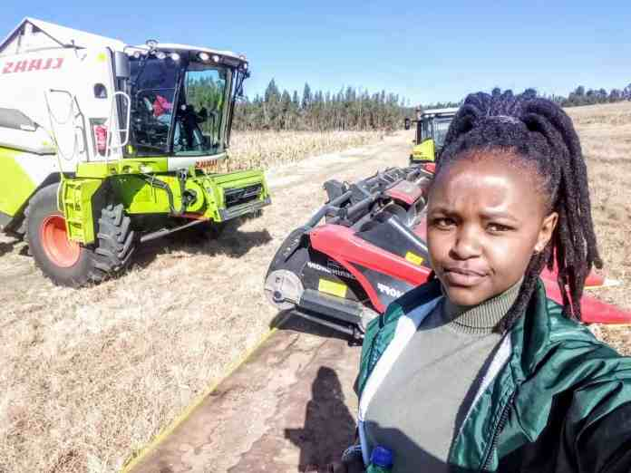 Njabulo Mbokane (24) makes sure that she harnesses the power of partnership and mentorship in her farming operations.