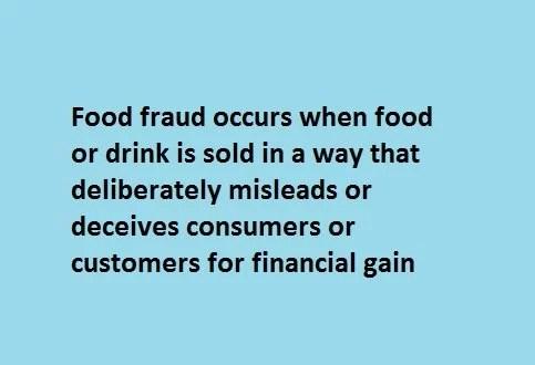 food fraud definition