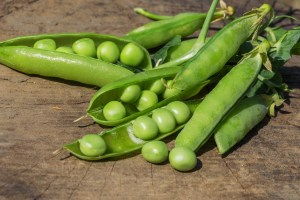Organic peas vegetable pesticide