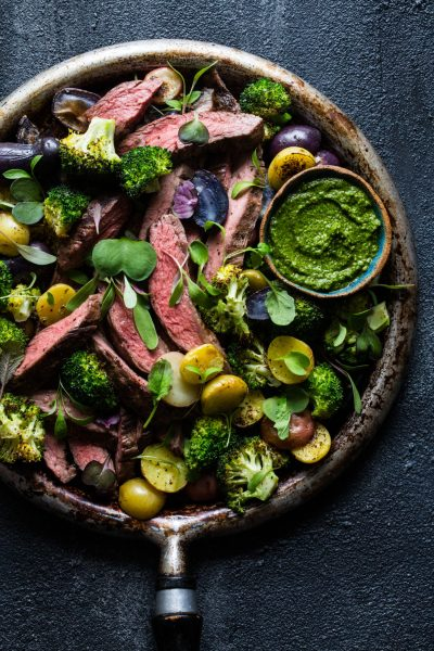 One Pan Steak and Vegetables
