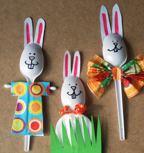 Plastic Spoon Bunnies - Easter Crafts for Kids