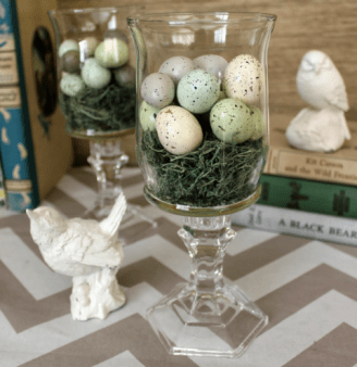 Speckled eggs in a vase - Easter Decoration