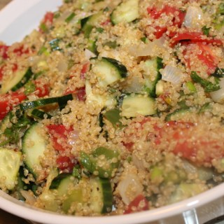 Quinoa with Cucumber, Tomatoes and Lemon Vinaigrette