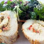 Pesto Stuffed Chicken Roll