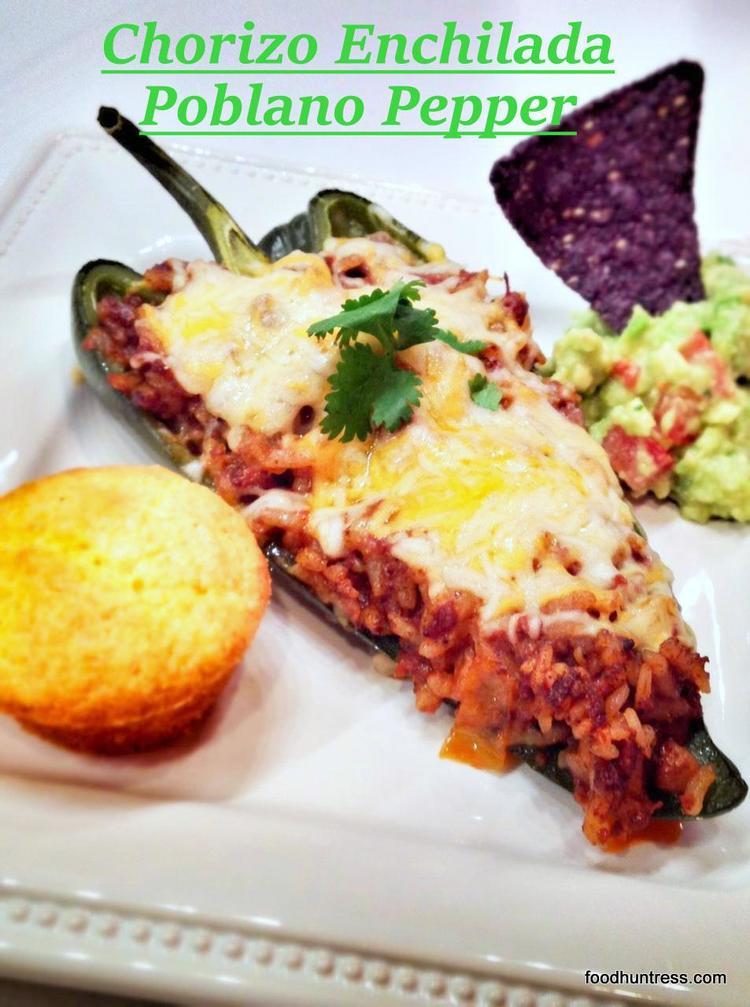 32.4 Chorizo Enchilada Stuffed Poblano Pepper
