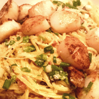 Pasta Carbonara with Scallops