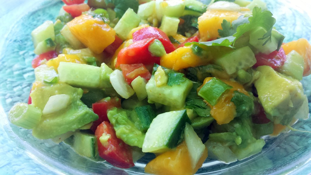 20150802_135010-1024x576 Best Mango Avocado Salad