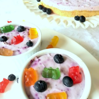 Children Love Frozen Blueberry Yogurt Dessert