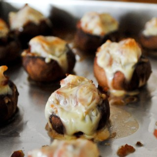 Baked Brown Button Mushrooms