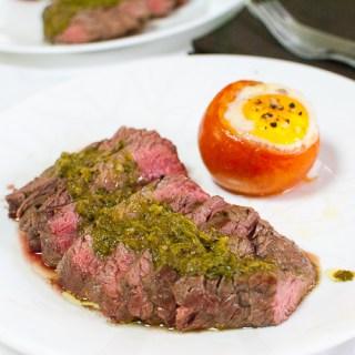 Steak with Chimichurri (Curtis Stone)