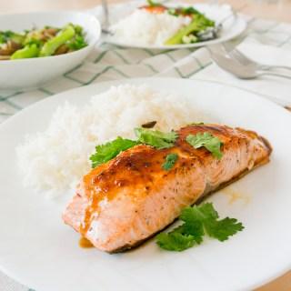 Pan-Fried Salmon with Asian Glaze