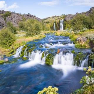 Day 3/22 Iceland: Secret Lagoon,Hrunalaug Hot Spring, Hjalparfoss, Þjóðveldisbærinn, Gjáin Waterfalls & Háifoss