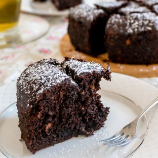 No-Mixer Double Chocolate Banana Cake / Bread