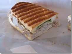 henri's bakery pork panini close up