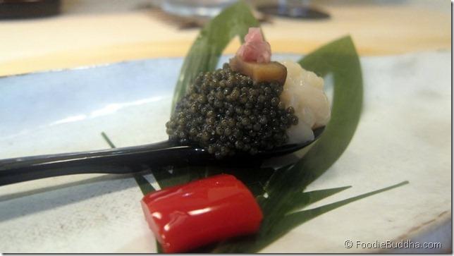 urasawa caviar dish