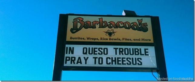 funny burrito sign