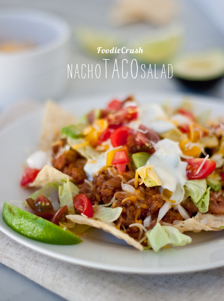 Nacho Taco Salad on foodiecrush.com