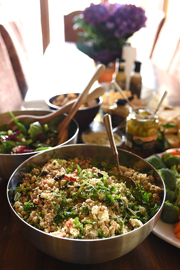 Mediterranean Quinoa Salad Better Blog Retreat | foodiecrush.com
