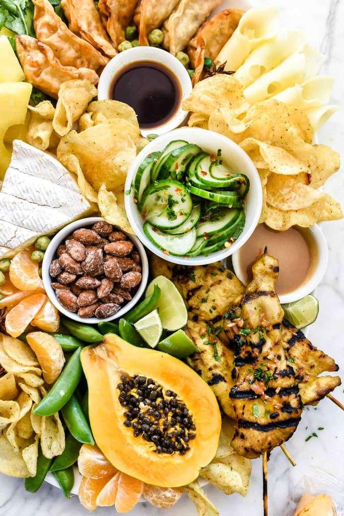 How to Make an Asian-Inspired Cheese Board | foodiecrush.com #cheeseboard #cheeseplate #asian #thai