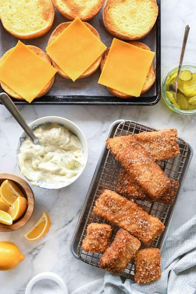 Healthier Fried Fish Sandwich | foodiecrush.com #fish #sandwich #healthy #fried