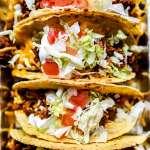 Just Like Taco Bell Tacos Recipe   foodiecrush.com #tacos #tacobell #beef #recipes
