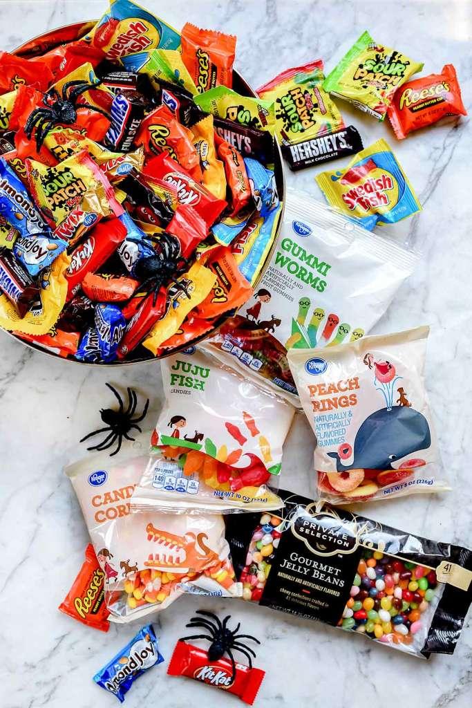 Bowl of Halloween Candy   foodiecrush.com