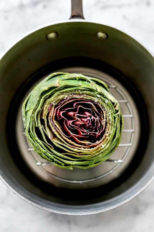 How to Steam Artichoke | foodiecrush.com
