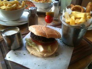 Brooklyn Cafe Blue Cheese Burger
